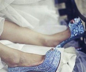 blue heels, pumps, and sparkly image