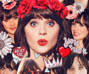 zooey deschanel and Collage image