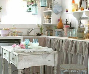 kitchen, vintage, and shabby image