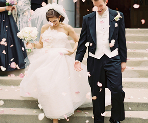 rose, happy, and just married image