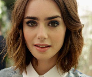 lily collins, hair, and eyes image