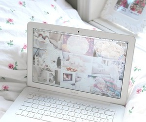 white, laptop, and macbook image