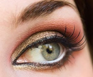 bronze, copper, and eye makeup image