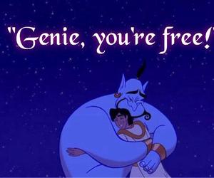 aladdin, free, and genie image