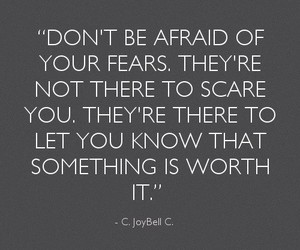 courage, encouragement, and fear image