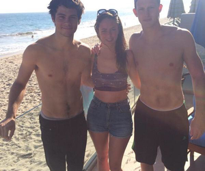 dylan o'brien, KAYA SCODELARIO, and beach image