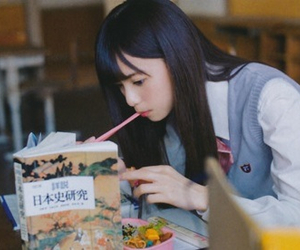 asian girl, eat, and food image