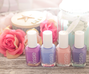 nails, essie, and girl image