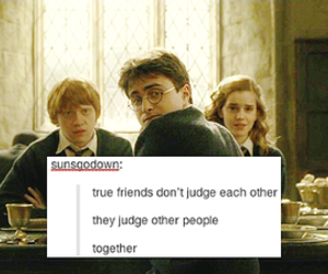 harry potter, friends, and funny image