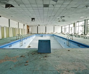 abandoned places, beautiful, and pool image