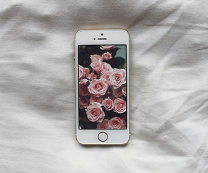 backround, iphone, and flowers image
