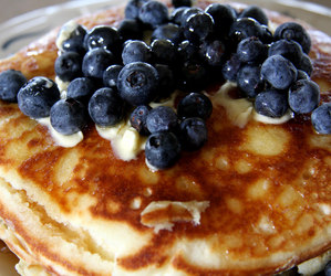 blueberry, pancakes, and dessert image