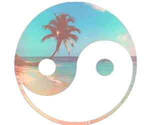 beach, summer, and ying yang image