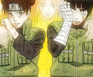 neji, naruto, and rock lee image