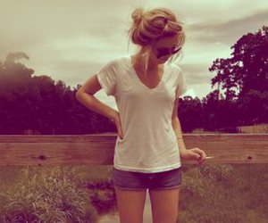 blonde, nature, and sepia image