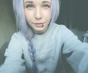 girl, hair, and piercing image