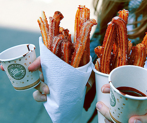 chocolate, churros, and food image