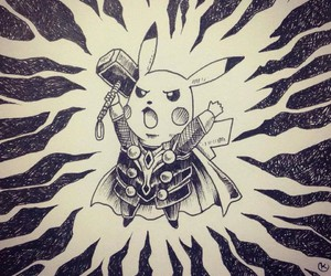 thor, cute, and pikachu image
