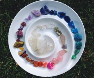 colors, crystal, and hippie image