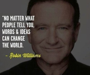 robin williams, quote, and rip image
