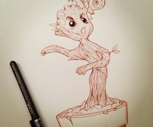 groot, baby, and drawing image