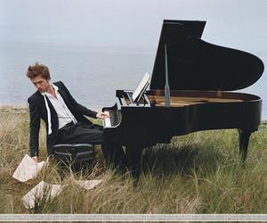 robert pattinson, piano, and robert image