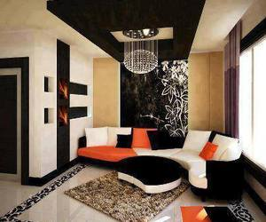 room, living room, and orange image