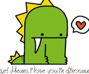 dinosaur, rawr, and love image