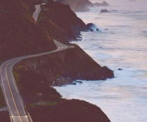 road, sea, and ocean image