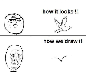 bird, draw, and funny image