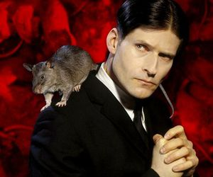 Crispin Glover and rat image