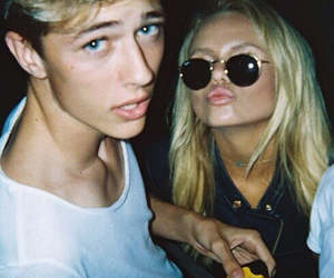 boy, couple, and blonde image