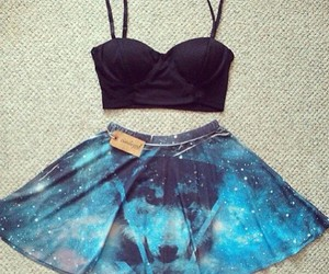 fashion, galaxy, and outfit image