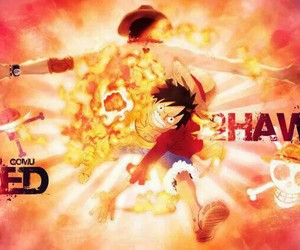 one piece, luffy, and red hawk image