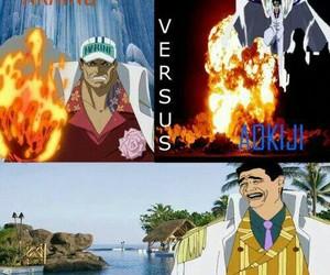 borsalino, one piece, and aokiji image