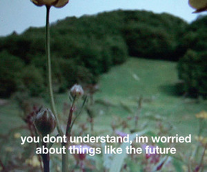 future, quotes, and worried image