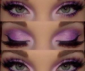 make up, eyes, and purple image