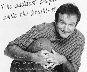 black and white, quote, and robin williams image
