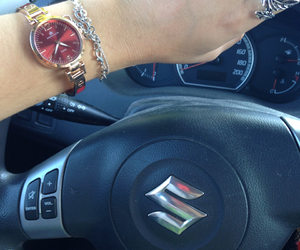 car, fasion, and watch image