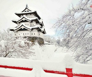 castle, japan, and japanese image