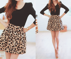 leopard and skirt image