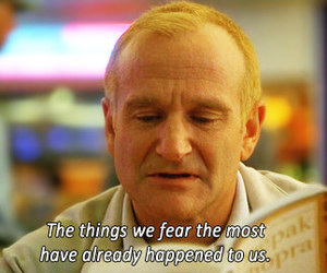 quotes, robin williams, and fear image