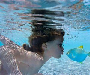 fish, kiss, and water image