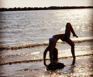 backbend, beach, and blessed image
