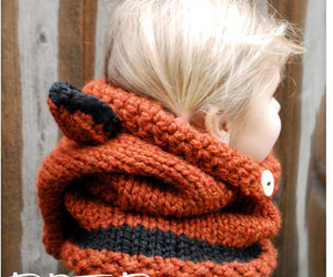 hood, scarf, and baby blonde image