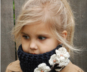 scarf, baby blonde, and winter image