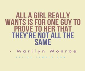 quote, love, and Marilyn Monroe image