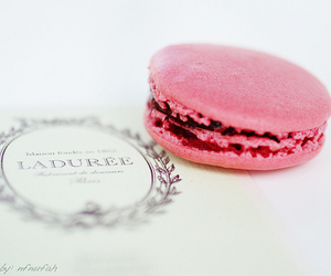 pink, laduree, and food image
