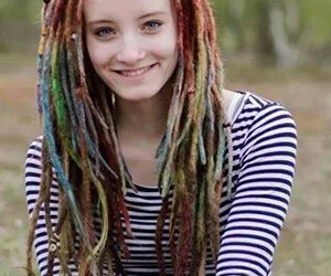 beautifull, colors, and dreads image