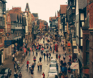 city, people, and england image